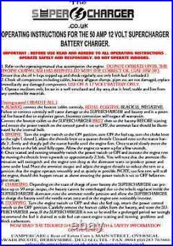 24v Lpg Gas Portable Generator 70 Amp 24 Volt Battery Charger Motorhome Boat