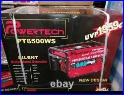 6 KVA NEW Powertech PT6500WS PROFESSIONAL SILENT Petrol GENERATOR 6500w