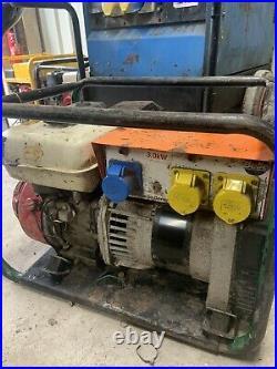 Belle Generator Honda gx 200 Petrol generator 110v and 230v 3.5kva