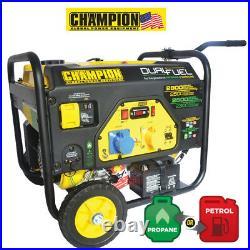 CHAMPION 2800 WATT DUAL FUEL GENERATOR WITH ELECTRIC START UK Spec CPG3500E2-DF