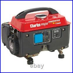 Clarke G1200 4 Stroke Petrol Generator 1100w Quiet running Air cooled 4 stroke