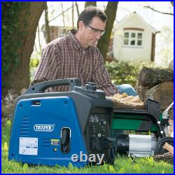 Draper 2kVA / 1.6kW Small Compact Petrol Inverter Generator 80956