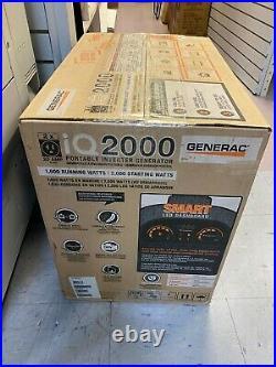 Generac iQ2000 Quiet Portable Inverter Gas Generator 2000W Generador silencioso