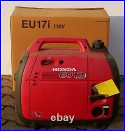 HONDA EU17i Generator 110V 1700W 10,5h 50hz Petrol Gas Industrial 4cycle NEW