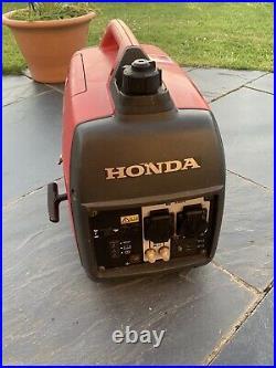 HONDA EU20i 2.0Kw Suitcase inverter generator (LPG Adapter fitted)