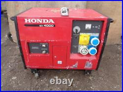 HONDA EX 4000 S 3-5 Kw PETROL 110 + 230 VOLTS MADE IN JAPAN