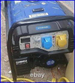 Hyundai 3.2kWith4.00kVa Recoil Start Site Petrol Generator (HY3800L2)