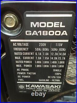Kawasaki GA1800a Generator Suitcase Silent Petrol Portable 110V 240V 12V