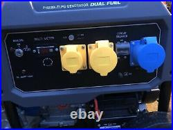 P1PE 7.9kW Recoil And Electric Start Site Dual Fuel Petrol/LPG Generator