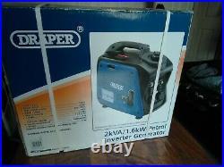 Petrol Inverter Generator (2.0Kva/1.6Kw) Draper 80956