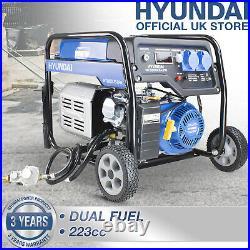 Petrol or LPG Gas Generator Electric Start 3200w 3.2kW 4kVa Catering HYUNDAI