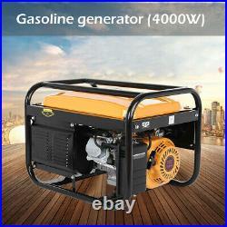 Portable Petrol Generator 4-Stroke 4000w Manual Recoil Start Camping Power UK