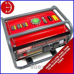 PowerKing Petrol Generator PKB3000LR 2200w 2.75KVA Wolf 6.5HP 4 Stroke