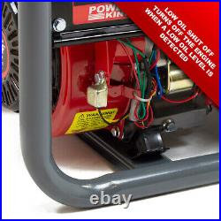 PowerKing Petrol Generator PKB5000ES 3200w Wolf 7HP Electric Start Wheel Kit