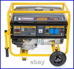 Powermat Power generator PM-AGR-6500KE-K WHEELS 6 kW 66 x 70 x 55 cm 15 KM AVR