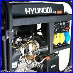 SILENT Hyundai HY7000LEk Electric Start Open Frame Petrol Generator 3 year Wrnty