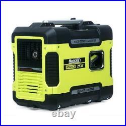 Silent Inverter Petrol Generator 2KW Portable Camping Caravan RV Blackline 4600