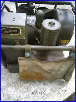 Vintage Rare Original Wwii Ex Army Grc 9 Radio Portable Power Gasoline Generator