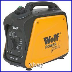 Wolf Petrol Inverter Generator 1200w 4HP 4Stroke Silent Portable Caravan Camping